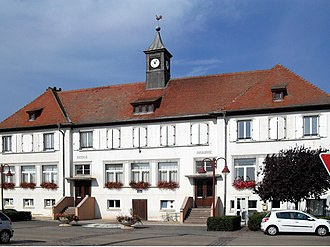 Appenwihr - The town hall and school in Appenwihr