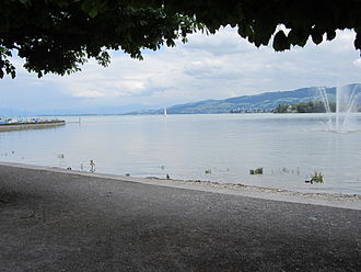 Arbon - View from Arbon to the Lake of Constance