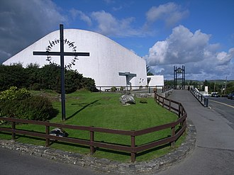 Creeslough - St. Michael's Church, designed by Liam McCormick in 1971