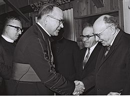 Archbishop Maurice Badoux and Zalman Shazar 1964.jpg
