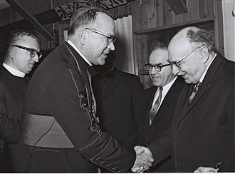 Maurice Baudoux - Badoux with Israeli President Zalman Shazar during a visit to Israel in 1964