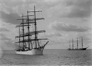 Grain race - Archibald Russel and Ponape, two windjammers that sailed on the grain trade.