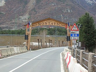 Mont Avic - Entrance of the Parco Naturale del Mont Avic.