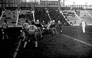Montreal Indians - The Montreal Indians play the Toronto Argonauts at Percival Molson Memorial Stadium,  November 6, 1937.