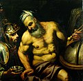 Aristotle refusing the hemlock (?). Oil painting by a painte Wellcome L0019669.jpg