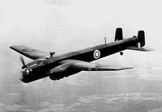 Lise de Baissac - Armstrong Whitworth Whitley in flight c1940.