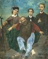 Artista italiano, Ritratto di Giuseppe Garibaldi con i figli Teresita, Menotti e Ricciotti, 1862 ca.png