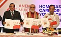 Ashwini Kumar Choubey releasing the Toolkit for Anemia Mukt Bharat & Home-Based care for Young Child programmes.JPG