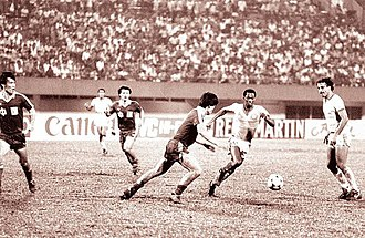 Saudi Arabia national football team - The Final of the 1984 AFC Asian Cup, against China. Saudi Arabia won their first AFC Asian Cup in their first entry to the competition.
