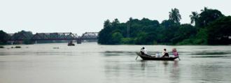 Atrai River - Atrai river during monsoon, a view from Atrai Upazila, Naogaon District, Bangladesh