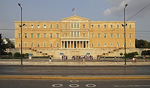 Politics of Greece - The Greek Parliament building, which was the Old Royal Palace.