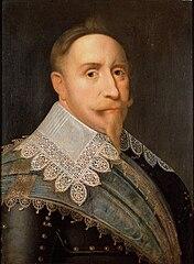 Gustavo II Adolfo de Suecia por Jacob Hoefnagel (1624)