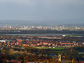 Audenshaw town in Tameside, Greater Manchester, England