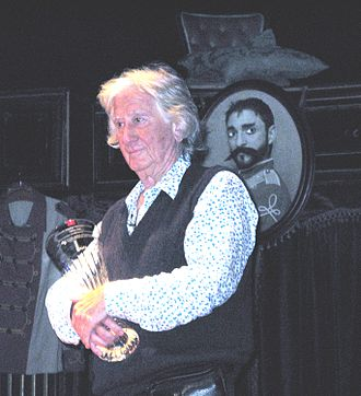 Augusto Boal - Augusto Boal receives the Crossborder Award for Peace and Democracy. Abbey Theatre, April 3rd 2008.