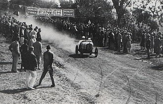 Australian Grand Prix - Arthur Waite won the 1928 100 Miles Road Race at the Phillip Island road circuit driving an Austin 7