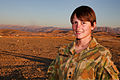 Australian Army Lt. Juliana Karantonis, a military engineer, poses for a photo Nov. 20, 2013, at Multinational Base Tirin Kot, Afghanistan 131120-O-ZZ999-085-AU.jpg