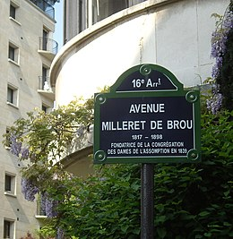 image illustrative de l'article Avenue Milleret-de-Brou