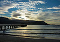 Awesome sunset with Hanalai Pier as a leading line (8034645173).jpg