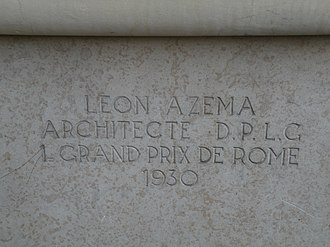 Léon Azéma - Detail on the building at 91–93 quai d'Orsay in Paris