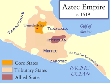 The Aztec Empire, on the eve of the Spanish Conquest.