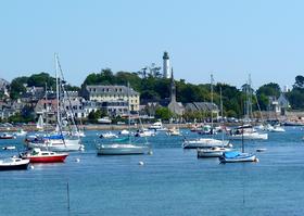 Port de Bénodet vu de Sainte Marine.