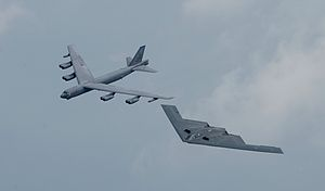 United States Strategic Command - B-52 and B-2 flying in formation