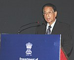 B.K. Handique addressing at the inauguration of Seminar on Pharmaceutical Pricing and Regulatory framework for Affordable Medicines, in New Delhi on April 12, 2008.jpg