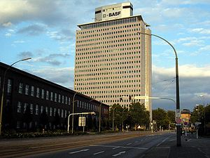 The BASF-Hochhaus in Ludwigshafen, Germany