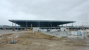 Airport terminal under construction