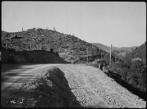 Clearcutting - Clearcut logging in the Blue Ridge Mountains (Tennessee) in 1936.