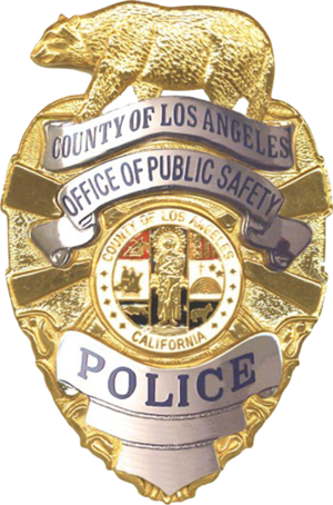 Los Angeles County Office of Public Safety - Image: Badge of the Los Angeles County Police