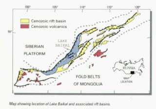 Baikal Rift Zone divergent boundary