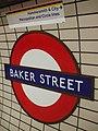 Baker Street stn Bakerloo line roundel.JPG