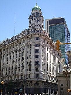 Edificio banco argentino uruguayo wikipedia la for Ministerio del interior argentina