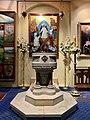 Baptismal font at All Saints Anglican Church, Brisbane 03.jpg