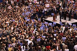 Barack Obama, crowd and endorsers at Hartford rally, February 4, 2008.jpg