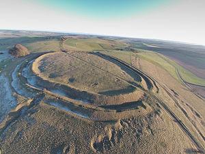 Barbury Castle - Barbury Castle Aerial View