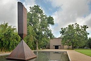 Broken Obelisk - Broken Obelisk in front of Rothko Chapel in Houston, Texas.