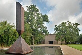 John de Menil - Barnett Newman's Broken Obelisk in front of the Rothko Chapel, Houston