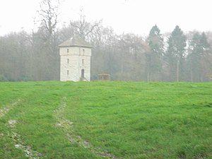 Barnsley Park - A watchtower in Barnsley Park