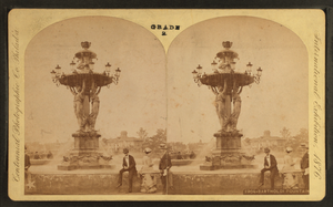 Bartholdi Fountain - Stereoscopic albumen print of the Bartholdi fountain, by Centennial Photographic Co., 1876, from the New York Public Library