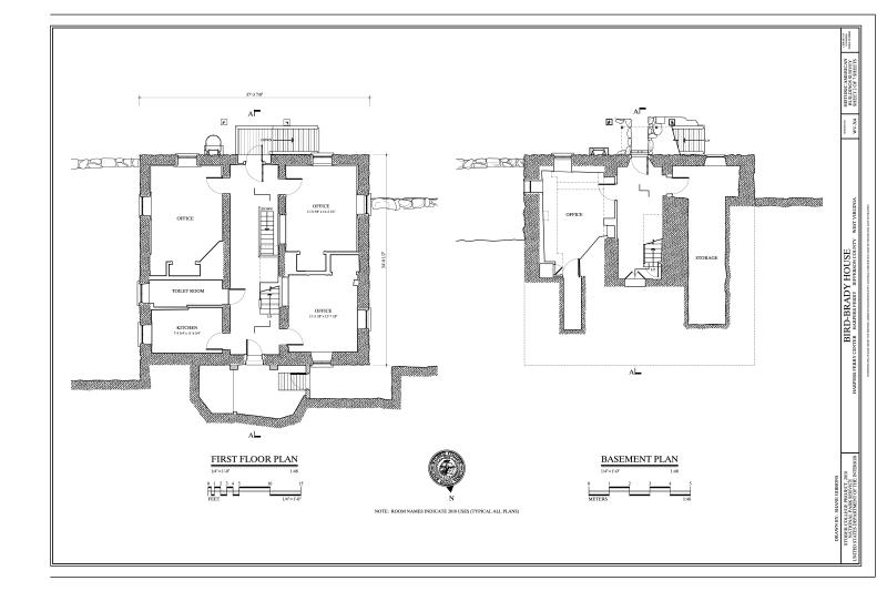 filebasement and first floor plans bird brady house camp hill