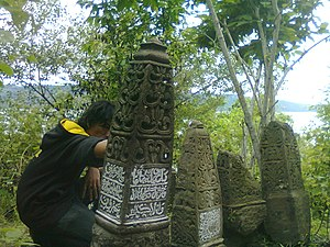 Lamuri Kingdom - Tombstone from the later, Islamic period in Lam Reh