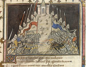 Battle of Cocherel - Battle of Cocherel (painting between c. 1380 and 1392)