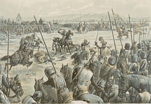 Battle of Hausbergen - The Battle of Hausbergen by Emile Schweitzer, 1894
