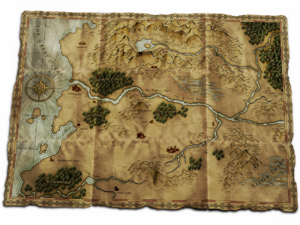 Overworld - Overworld map from the video game The Battle for Wesnoth.