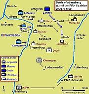 Map of the Battle of Abensberg