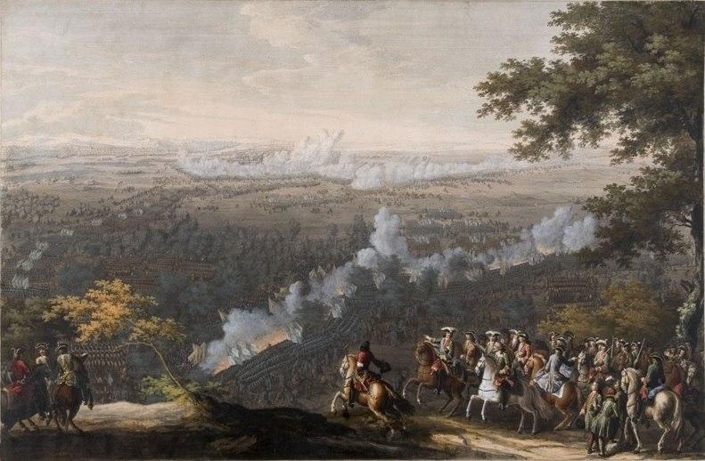 Battle of Lesnaya 1708 by Larmessin