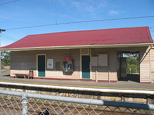 Beaconsfield railway station, Melbourne - Northern view of Platform 2