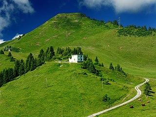 Bec du Corbeau mountain in Switzerland